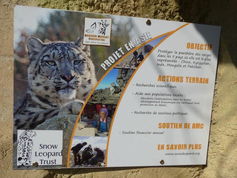 Exemple de panneau expliquant les actions de soutien de BMC