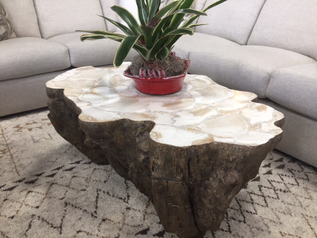 Palecek Fossilized Clam Shell Table