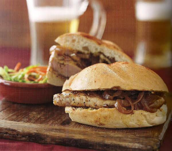 Pork Chop Sandwich With Grilled Vidalia Onions Recipe