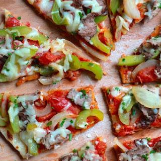 Grilled Cheesesteak Flatbread Pizza
