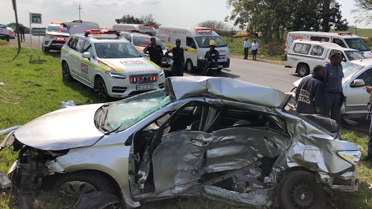 A high impact crash on the KwaZulu-Natal north coast claimed the life of one person and left three others injured on Saturday.
