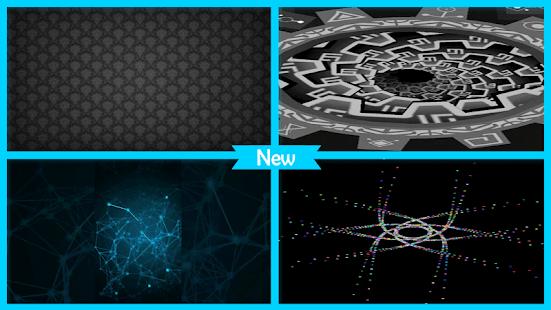 Black Patterns Live Wallpaper - náhled