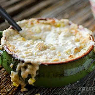 Corn & Green Chili Con Queso Dip.