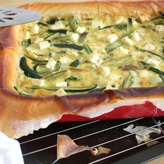 Zucchini & Feta Quiche With Phyllo Pastry.