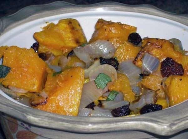 Roasted Butternut Squash With Sage And Dried Cherries Recipe