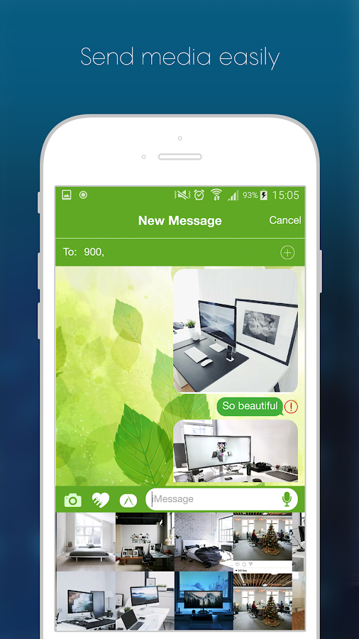 Screenshots of iMessenger OS10 for iPhone