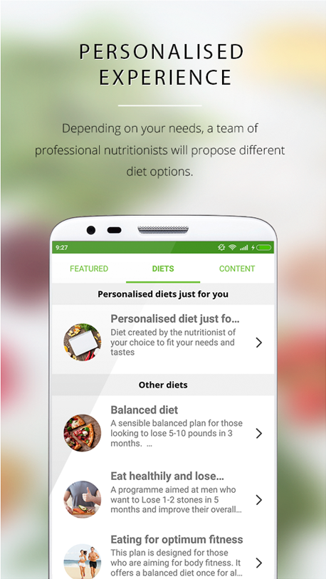 nootric, diets and weight loss- screenshot