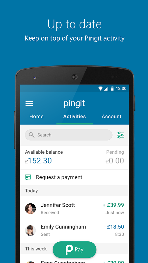 Pingit- screenshot