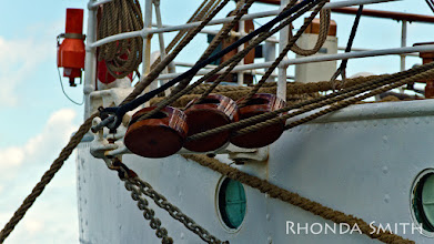 Photo: A close up of the rigging.