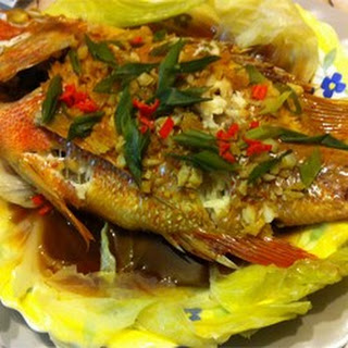 Chinese-Style Steamed Fish.