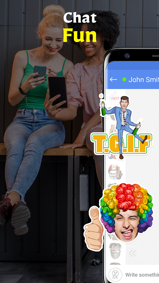 Stixchat - Selfie messenger with face stickers- screenshot