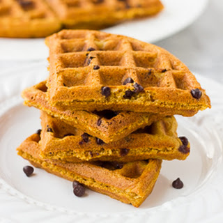 Gluten-Free Whole Grain Pumpkin Waffles {Dairy-Free}