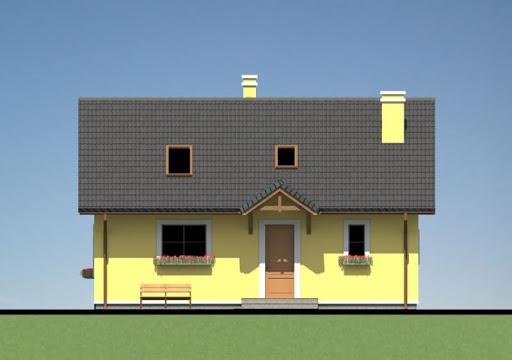 Mały dom w Chociwlu 1 - Elewacja przednia