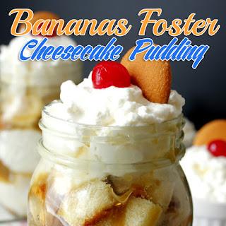 Bananas Foster Cheesecake Pudding {Mason Jar No Bake Dessert} Recipe