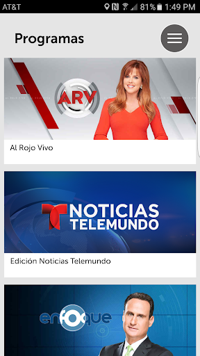 Noticias Telemundo Screenshot
