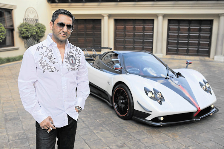 Zunaid Moti in a file picture with a Pagani Zonda made for him, worth about R10-million.