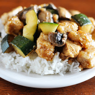 Chicken with Mushrooms and Zucchini.