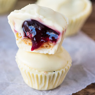White Chocolate Cherry Cups