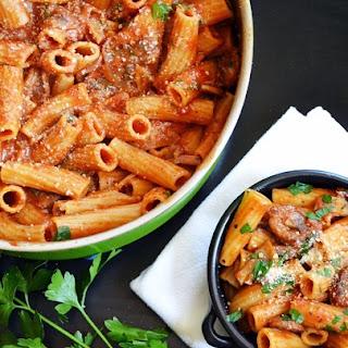 One Pot Sausage & Mushroom Pasta