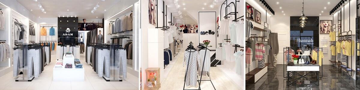 thiết kế shop thời trang đẹp, sáng tạo, cuốn hút