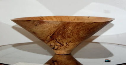 "Photo: Spalted Maple, 5"" x 15"", 2.25"" base, $570"