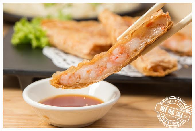 糖朝港式料理鮮蝦虎皮卷