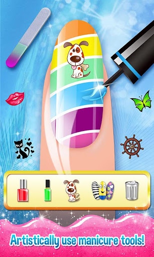 Nail Art Shiny Design Salon - Sweet Girls Manicure image   2
