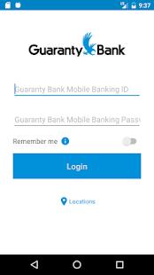 Guaranty Bank Mobile Banking - náhled