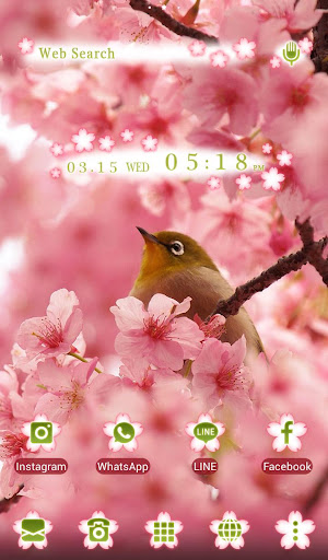 Bird & Cherry Blossoms Theme 1.0.0 Windows u7528 5