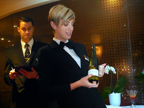 Photo: Amelie explains our first wine