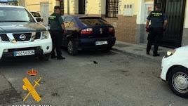 Agentes de la Guardia Civil en La Mojonera.