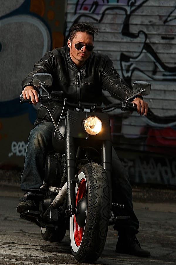 It's rock'n roll by Tom Mehlum - People Street & Candids ( shades, motorbike, motorcycle, rock, man )