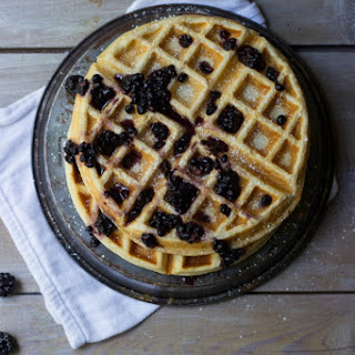 Lemon Meringue Waffles + Blackberry Maple Syrup