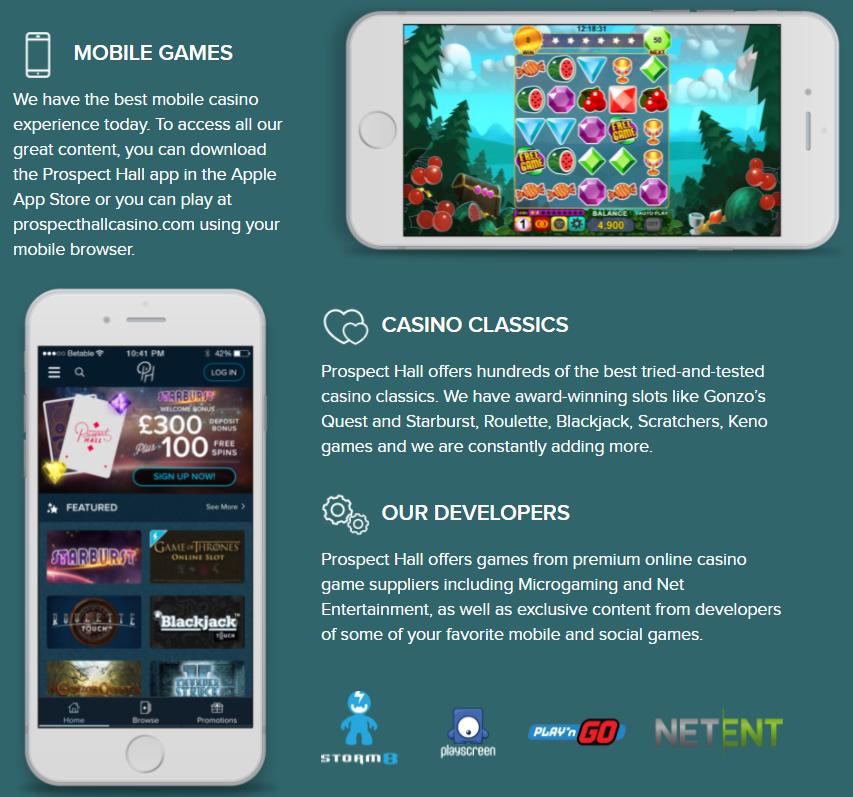 Prospect Hall Casino Mobile Apps