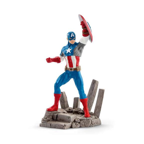 Contenido de Schleich® 21503 Capitán América
