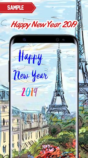 New Year 2019 Wallpaper (Eiffel) 2.0 screenshots 7