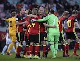 Les réactions de Jana Coryn et Laura Deloose après le 6-0 contre l'Estonie