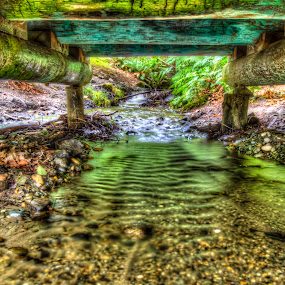 Where the Trolls Live by Nolan Hauke - Buildings & Architecture Bridges & Suspended Structures ( water, hdr, creek, bridge )