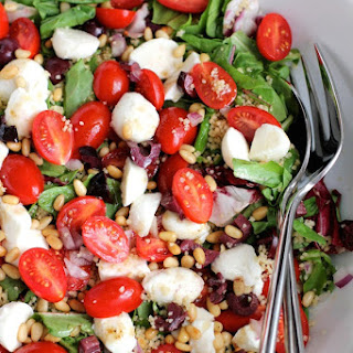 Couscous Salad with Cherry Tomatoes and Mozzarella
