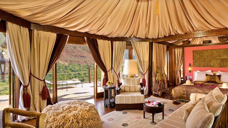 Photo: Sir Richard Branson's Kasbah Tamadot in Marrakech offers an exotic retreat with breathtaking views of the Atlas Mountains. Request a Berber Tented Suite for open views and to enjoy the aroma of herbs and flowers from the hotel garden. See more of the hotel here: http://bit.ly/KuhQ6K