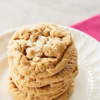 Salted Peanut Butter-Butterscotch Chip Cookies