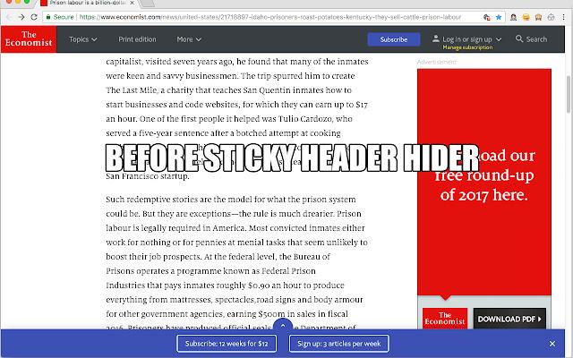 Sticky Header Hider aka Fixed Header Fixer