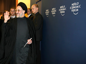 Photo: DAVOS/SWITZERLAND, 27JAN07 - Mohammad Khatami, President of the Islamic Republic of Iran, captured of the Annual Meeting 2007 of the World Economic Forum in Davos, Switzerland, January 27, 2007.  Copyright by World Economic Forum     swiss-image.ch/Photo by Monika Flueckiger   +++no resale, no archive+++