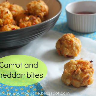 Carrot And Cheddar Bites.