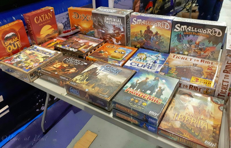 table filled with board games