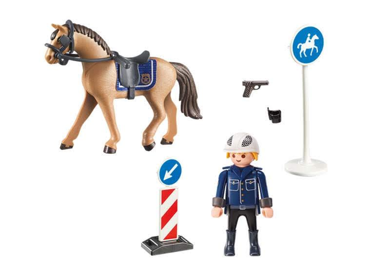 Contenido real de Playmobil® 9260 Policía Montada