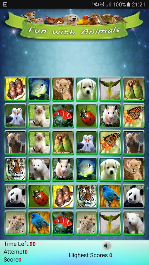 Fun With Animals Matching Game- tangkapan layar