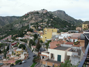 Photo: The ancient hill town of Castelmola, looking across from the Sanctuario della Madonna