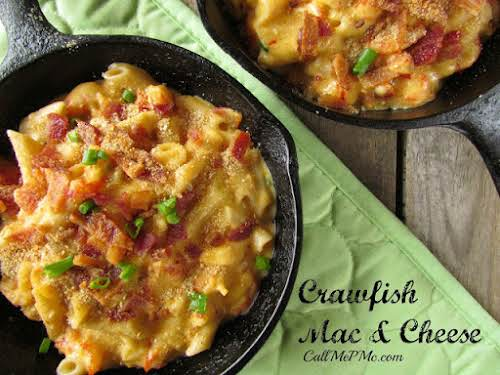 """Decadent Crawfish Mac and Cheese """"Rich and flavorful crawfish adds a kick..."""