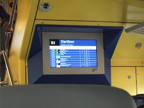Photo: Подъезжаем к остановке - показывает ближайшие поезда и трамваи, на которые можно пересесть. Везде также стоит точное время отправления. Оно строго соблюдается.